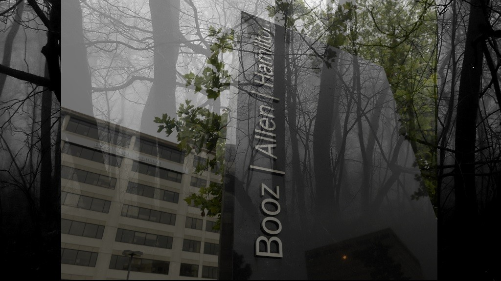Photo montage of Booz Allen Hamilton Bldg