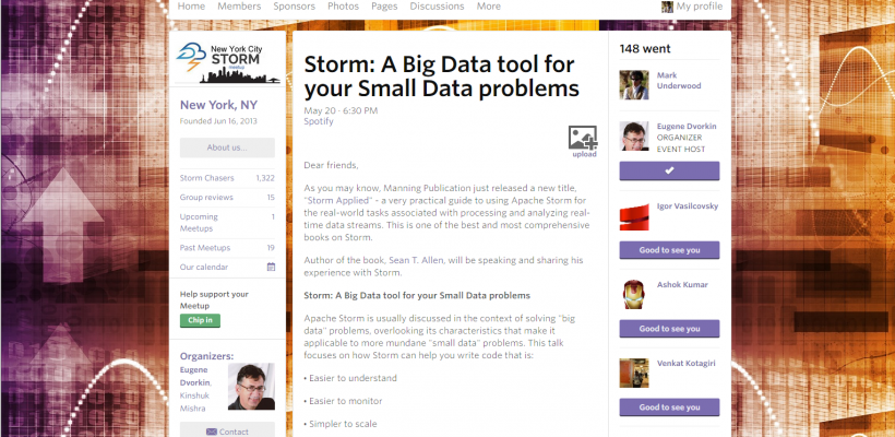 Apache Storm  Uses as a Small Data Tool