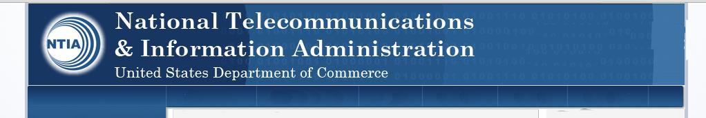 Dept of Commerce NTIA Banner
