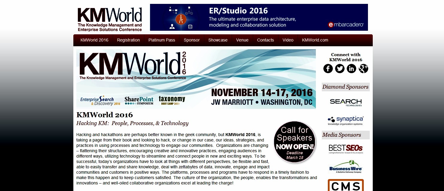 Screenshot: KMWorld 2016
